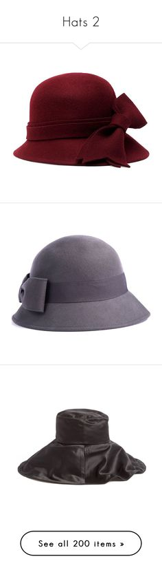 """""""Hats 2"""" by ravenlancaster ❤ liked on Polyvore featuring accessories, hats, burgundy, burgundy hat, crown hat, brimmed hat, brooks brothers hats, felt hat, headwear and barbour"""