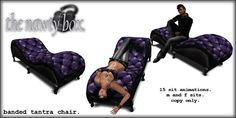 Gothic Banded Tantra Chair Grape Low Prim