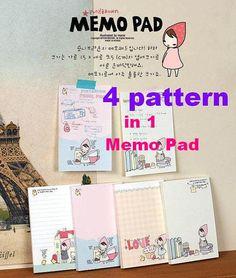 Cute cartoon Memo pad little red riding hood My by StickersKingdom, $2.49