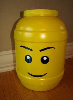 Crafts: DIY Lego head storage container |