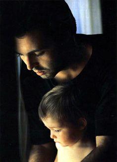 A beautiful father, a beautiful son.