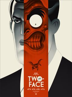 Batman: TAS Two Face Red Poster