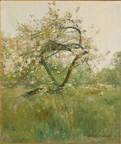 Chile Hassam - Peach Blossoms-Villiers-le-Bel (c. 1887-89)
