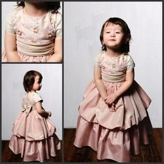 Find More Flower Girl Dresses Information about Real Images Custom made ball gown short sleeve high neck pink flower girl dress with flower lace for wedding free shipping,High Quality dresses ladies,China lace background Suppliers, Cheap lace mother of the bride dresses from Rose Wedding Dress Co., Ltd on Aliexpress.com