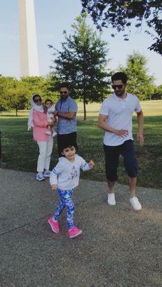 Pakistani Wedding Outfits, Pakistani Dresses, Aiman Khan, Ayeza Khan, Daddy Daughter, Pakistani Actress, Family Goals, Hollywood Celebrities, Beautiful Couple