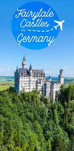 pinterest pin for Best Castles in Germany featuring Neuschwanstein Castle in fussen