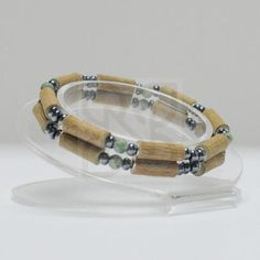 "Pure Hazelwood and Gemstone Double Bracelet - 8"" (Teens & Adults)"