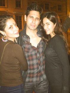Sidharth Malhotra and Katrina Kaif with director Nitya Mehra at #BaarBaarDekho…
