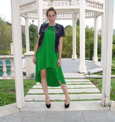 Jacket by Anna Stevar Arttrois, Dress by Anna Stevar Arttrois, Shoes by Dior