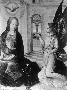 Annonciation | Lieu de conservation non localisé | Flandes, Juan de (artiste-peintre) (suiveur), Date: 1501 (ca) - 1600 (ca)