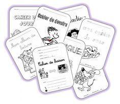 Pages de garde pour les cahiers des élèves