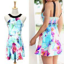 Summer Women Sexy Beach Dresses Casual Sleeveless Evening Party Mini Short Dress