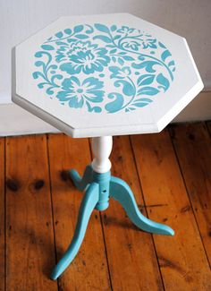 Chalk Painted and Stencilled Coffee Table by NicoletteTabram, $110.00