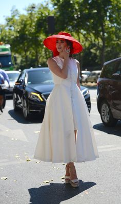 white and red outside the shows during Paris Haute Couture Fall 2015