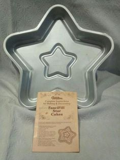 VINTAGE 1980 WILTON FANCIFILL STAR CAKE PAN INSTRUCTION BOOK 502 1468
