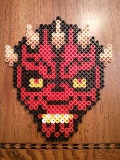Darth Maul - Star Wars /  Perler Beads - Hama perlen - Bügelperlen