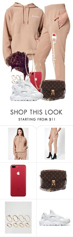 """01/06/18"" by jasmineharper ❤ liked on Polyvore featuring Champion, PacSun, Louis Vuitton, ASOS, NIKE and Lydell NYC"