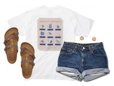 """Read d!"" by kaley-ii ❤ liked on Polyvore featuring Birkenstock and Kendra Scott"