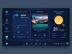 gui design Artificial intelligence is the latest fashion trend, and the smart car field is getting more and more hot. Best Ui Design, Web Design, Dashboard Ui, Dashboard Design, Interface Design, User Interface, Talking To The Moon, Console, Car Ui