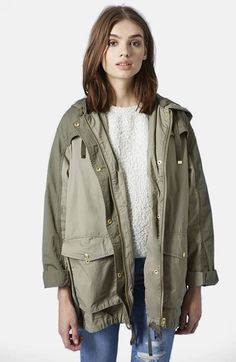 Topshop Color Block Parka available at #Nordstrom