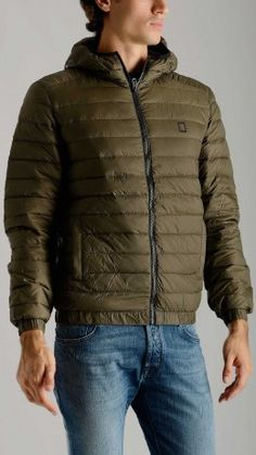 Military green ultralight down jacket