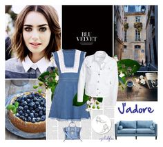 """""""Le bleu ... j'adore"""" by cybelfee ❤ liked on Polyvore featuring House of Holland, Filippa K, Dot & Bo, Derek Lam, women's clothing, women, female, woman, misses and juniors"""