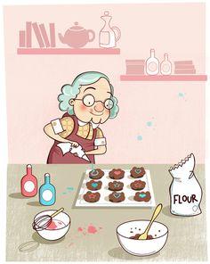 Lisa Hunt - Grandma baking