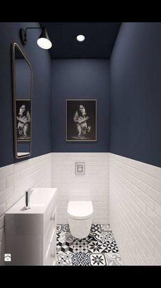 93 Cool Black And White Bathroom Design Ideas oneonroom - Wohnkultur // Badezimmer im Erdgeschoss - Bathroom Decor Downstairs Bathroom, Bathroom Small, Master Bathroom, Bathroom Black, Small Bathroom Designs, Cool Bathroom Ideas, Cloakroom Ideas, Design Bathroom, Bathroom Toilets