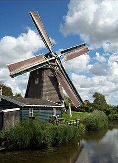 Polder mill De Groenvelder, Groenveld, the Netherlands.