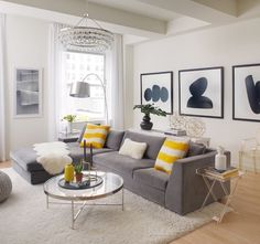 Black White And Yellow Home Decor Living Room Inspiration
