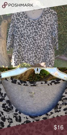 Style&Co Animal Print Top X3 Animal print top 3X with 3/4 sleeve Style & Co Tops Blouses