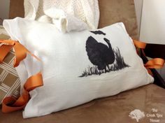 Super-Easy Turkey Silhouette Pillow Cover