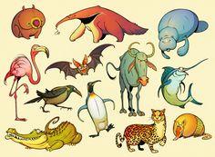 Twelve Daily Animals by einen.deviantart.com on @deviantART