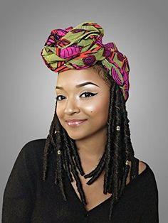 Kiani African Headwrap  Kente Scarves Ankara Headwraps Kente Headwraps * Visit the image link for more details. #HairElasticsandTies