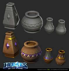 Art dump of the work I do on heroes of the storm as a Senior Environment Artist. From old to more recent Let it load, lots of pics. Prop Design, Game Design, 3d Design, Heroes Of The Storm, Hand Painted Textures, Game Props, 3d Modelle, Modelos 3d, 3d Texture