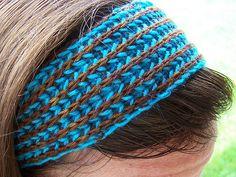 Brioche headband- good beginner project for brioche.