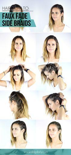 Faux fade side braid hair tutorial