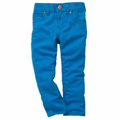 Love!!! Oshkosh has an adjustable waist!  Perfect for Dax!  Size 12 months  Skinny Jean- Blue Danube