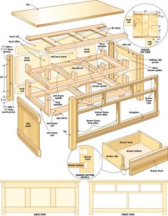 Pdf plans free work bench designs download woodworking for Kitchen island plans pdf