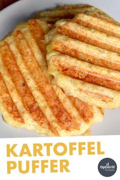 Kartoffelpuffer grillenPotato pancakes - a real classic of German cuisine! Delicious grated cakes can be prepared very well in the OptiGrill - and you only need 5 ingredients. You prepare the puff pastry from potatoes, flour, eggs and onions, Potato Flour, Potato Pancakes, Healthy Chicken Recipes, Healthy Cooking, Pancake Healthy, Health Snacks, Vegan Cheese, Sandwich Recipes, Grilling