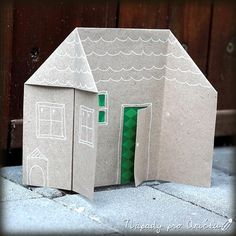 Papírové domečky Building For Kids, Printable Paper, Kids Crafts, Fathers Day, Activities For Kids, Art For Kids, Origami, Printables, Crafty