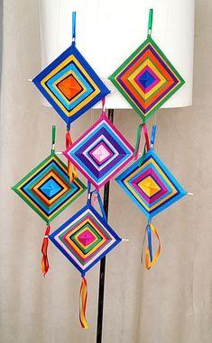 Pine Needle Crafts, Yarn Crafts, Diy And Crafts, Arts And Crafts, Home Crafts, God's Eye Craft, Art N Craft, Diy Wall Art, Diy Art