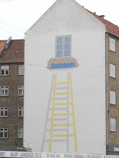 painted building - Rapunzel Rapunzel - let down your hair!