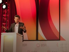 AXA Chairman and CEO Henri de Castries addresses the audience at the BSR Conference 2015.