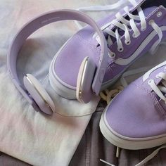 Find images and videos about fashion, white and aesthetic on We Heart It - the app to get lost in what you love. Purple Makeup, Purple Lipstick, Purple Sneakers, Purple Rain, Shades Of Purple, Lilac, Baby Shoes, Headphones, Super Cute