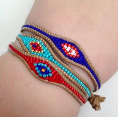 Ashbury Evil Eye Beaded Bracelet- RED
