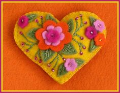embroidered felt ornament