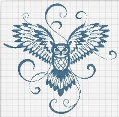 ru / Photo # 10 - My schemes (free of charge) - Cross Stitch Owl, Cross Stitch Animals, Cross Stitch Charts, Cross Stitch Designs, Cross Stitching, Cross Stitch Embroidery, Embroidery Patterns, Cross Stitch Patterns, Pixel Art Templates