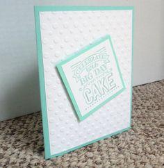 Birthday Card Birthday Cake Card Simple by WhiteFamilyCrafts