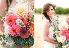 Modern, rustic wedding inspiration | Photo by Megan Tsang Photography | Read more  -  http://www.100layercake.com/blog/?p=66470